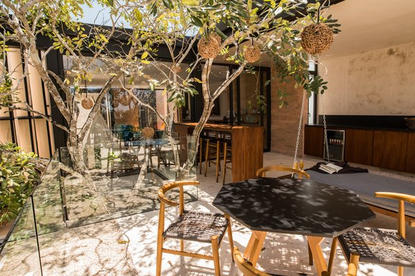 Modern home with outdoor, rooftop, and trees. Jabin terrace Photo 6 of Casa Chaaltun