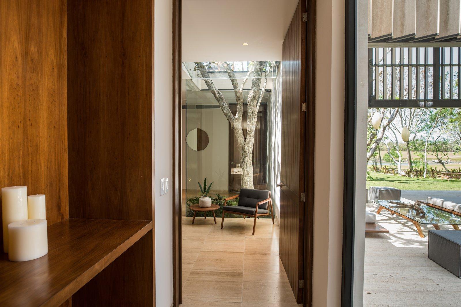 Master bedroom's lobby  Casa Chaaltun by tescala