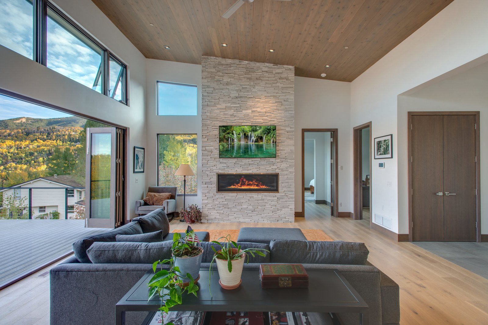 Tagged: Living, Ceiling, Ribbon, and Gas Burning.  Best Living Ceiling Gas Burning Photos from The Klug Residence
