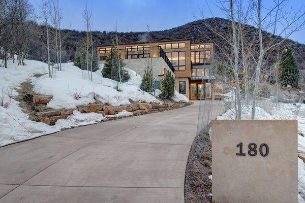 Modern home with outdoor. Photo  of Saddleback Lane