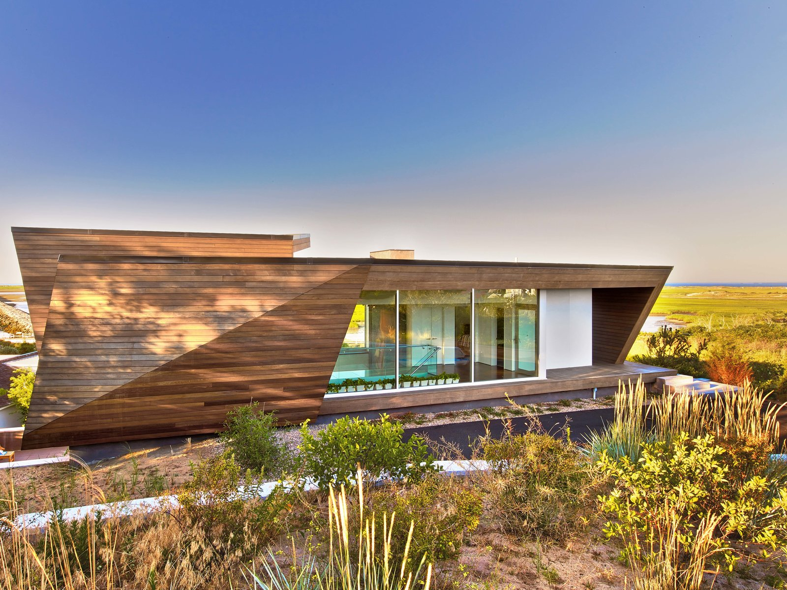 Tagged: Gardens, Walkways, Exterior, House, and Wood Siding Material.  Cape Cod - Beach House by Hariri & Hariri Architecture