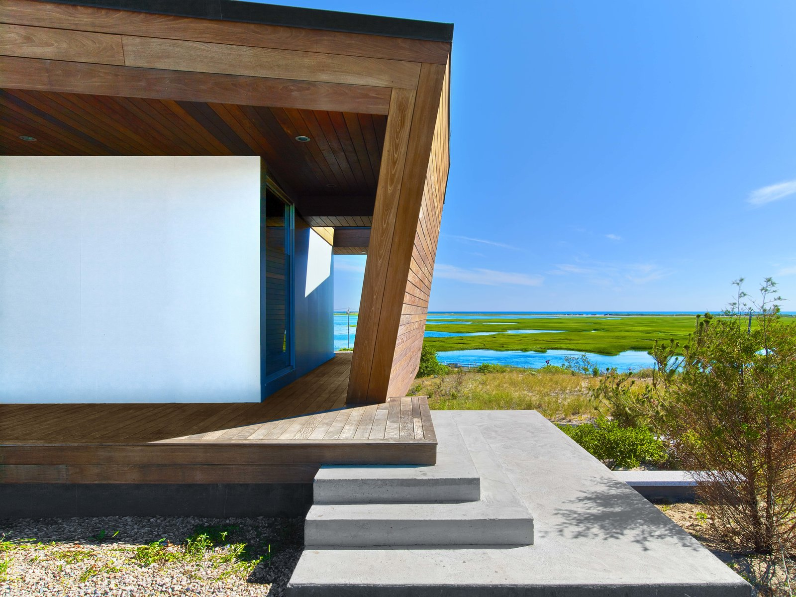 Tagged: Outdoor, Walkways, Wood Patio, Porch, Deck, and Concrete Patio, Porch, Deck.  Cape Cod - Beach House by Hariri & Hariri Architecture
