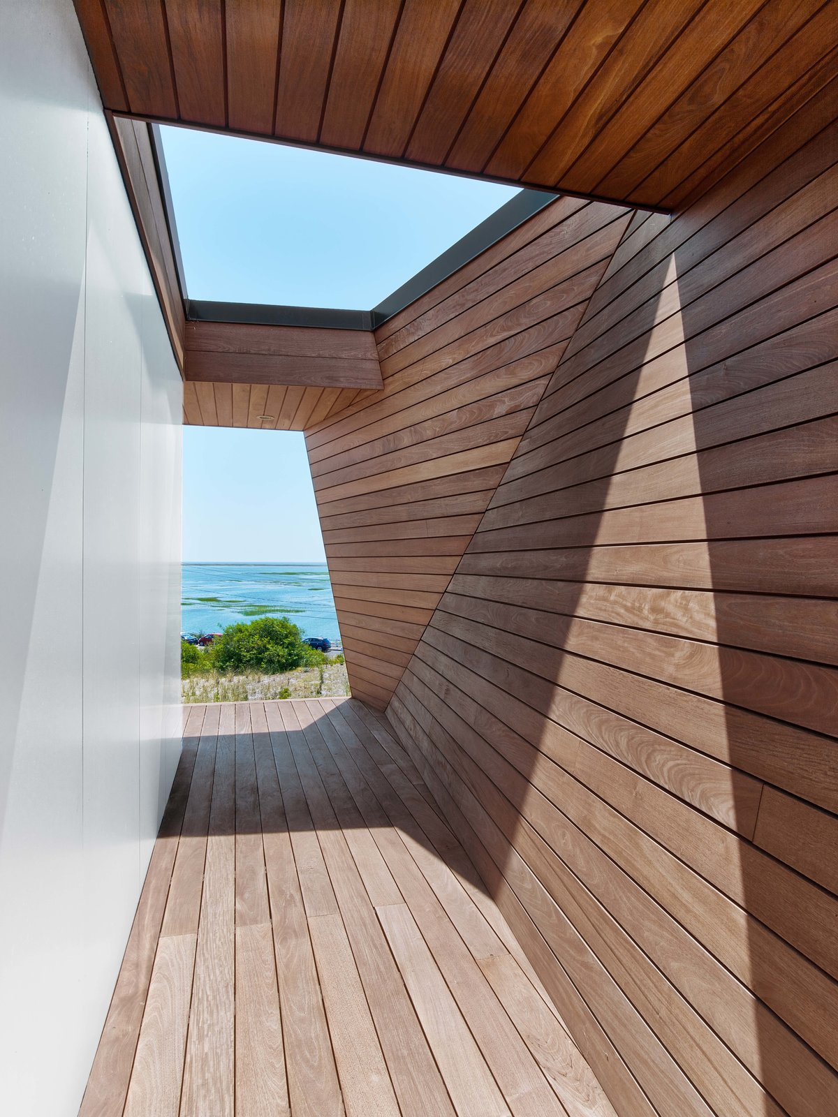 Tagged: Hallway and Medium Hardwood Floor.  Cape Cod - Beach House by Hariri & Hariri Architecture