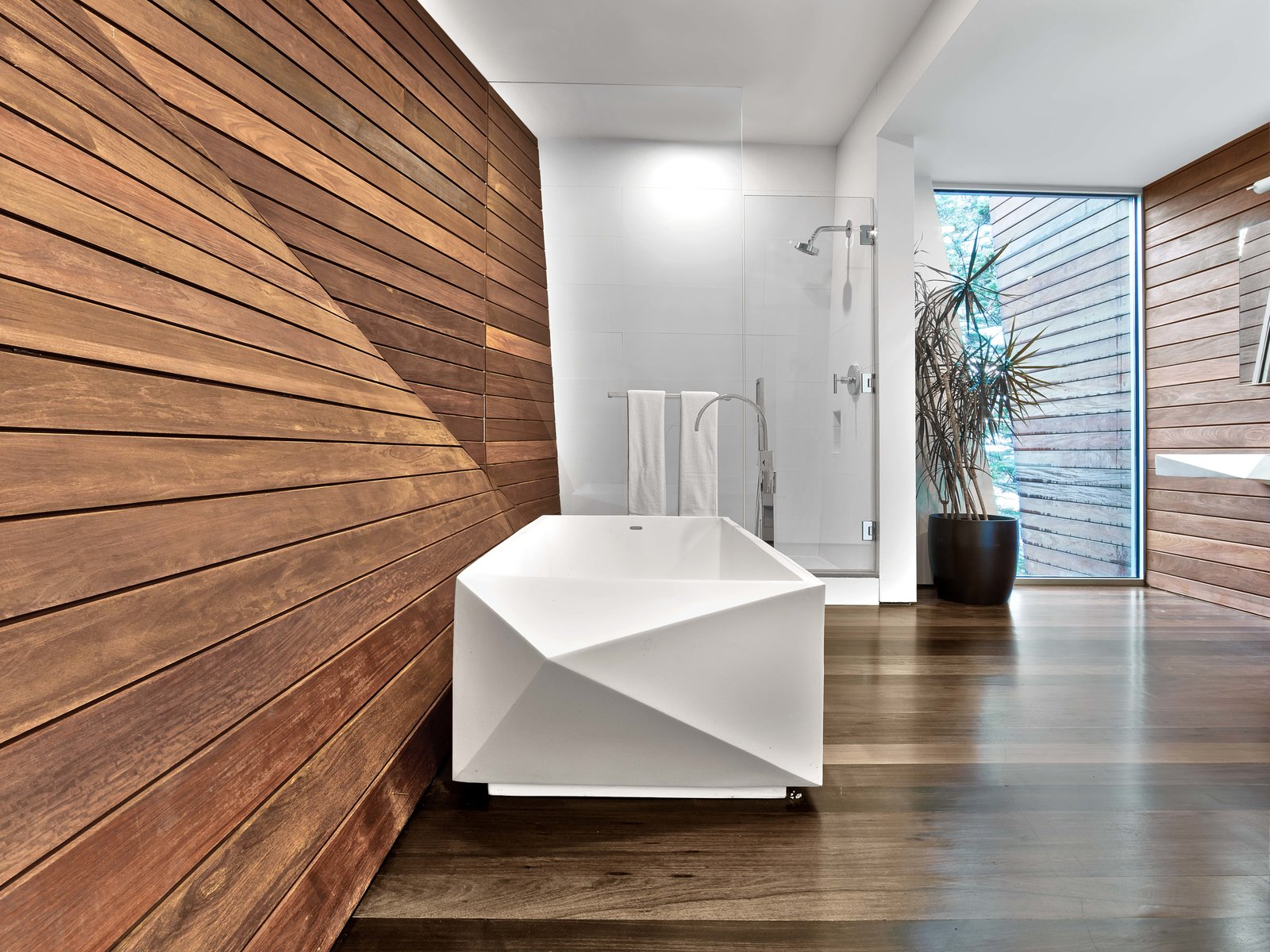 Tagged: Bath Room and Medium Hardwood Floor. Cape Cod - Beach House by Hariri & Hariri Architecture