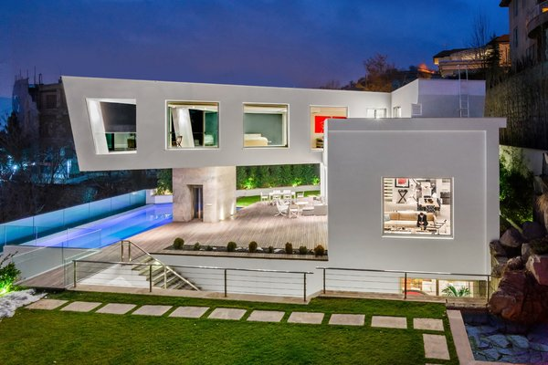 Modern home with outdoor, walkways, gardens, and pavers patio, porch, deck. Photo  of Lavasan Villa