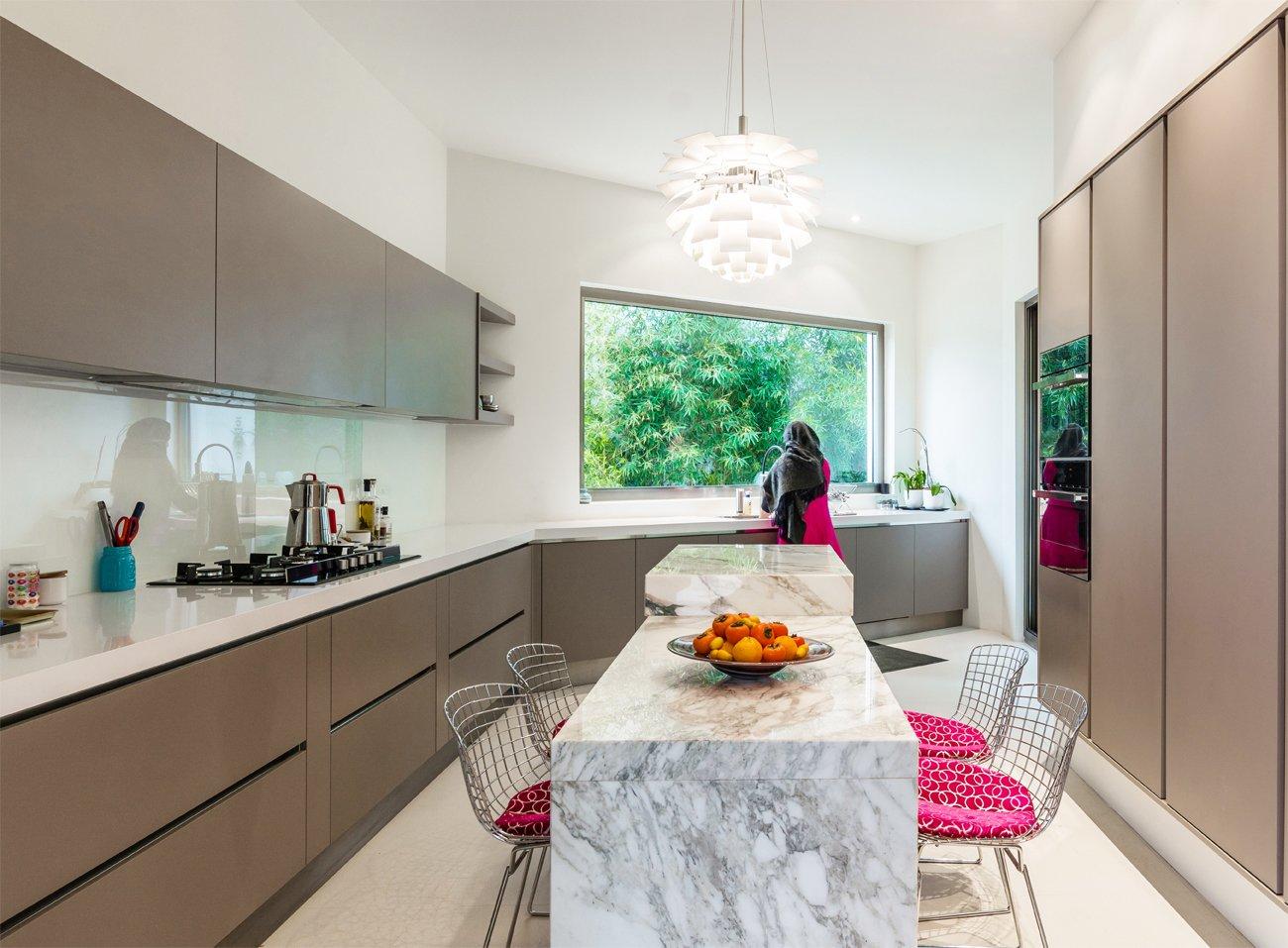 Tagged: Kitchen, Wall Oven, and Refrigerator.  Lavasan Villa by Hariri & Hariri Architecture