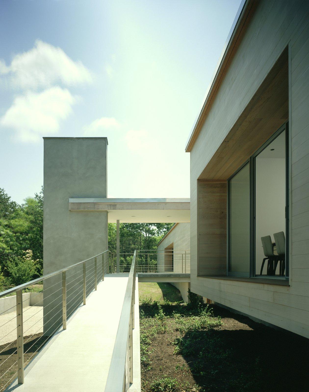 Tagged: Outdoor, Decking Patio, Porch, Deck, and Walkways.  Sagaponac House by Hariri & Hariri Architecture