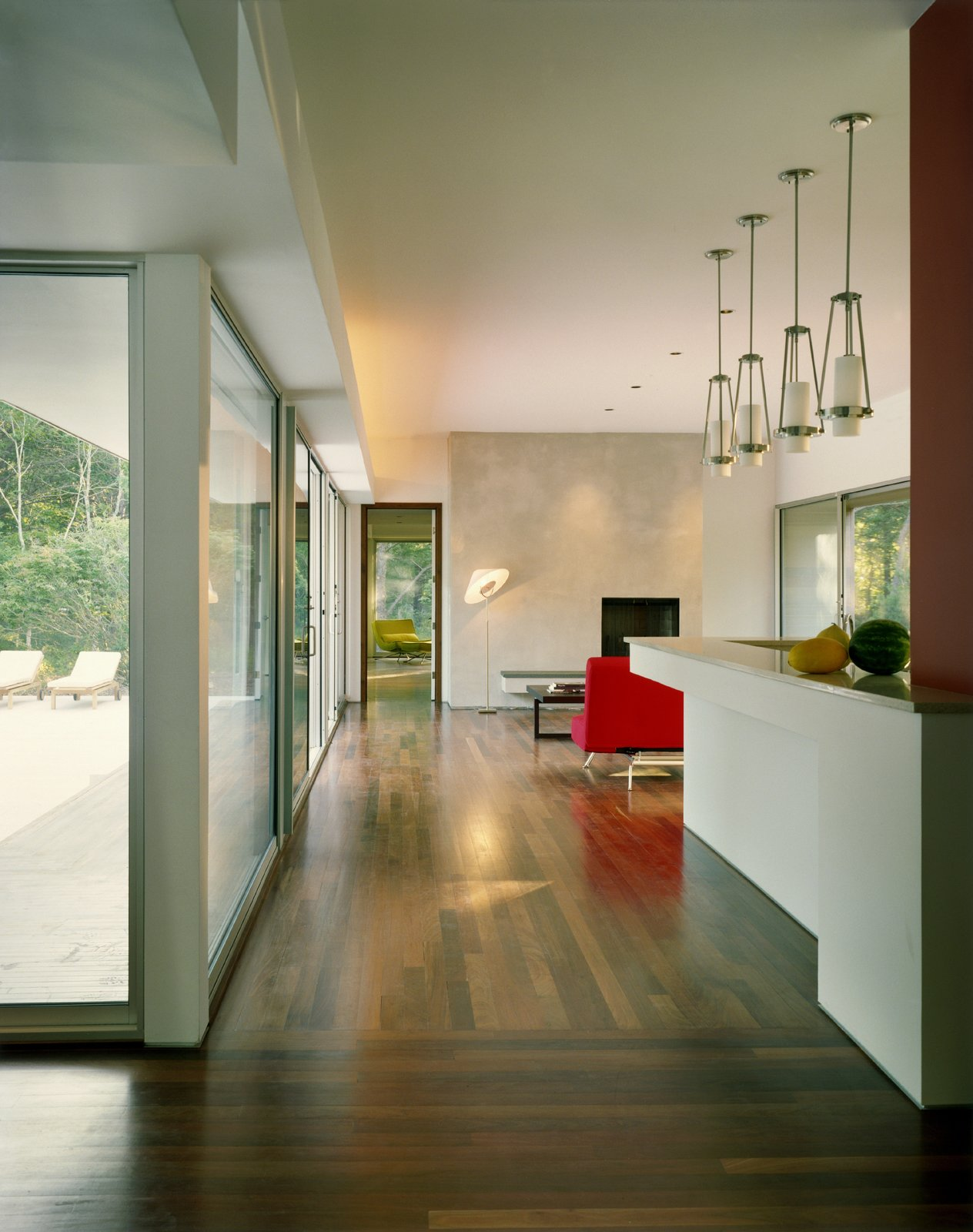 Tagged: Living Room and Medium Hardwood Floor.  Sagaponac House by Hariri & Hariri Architecture