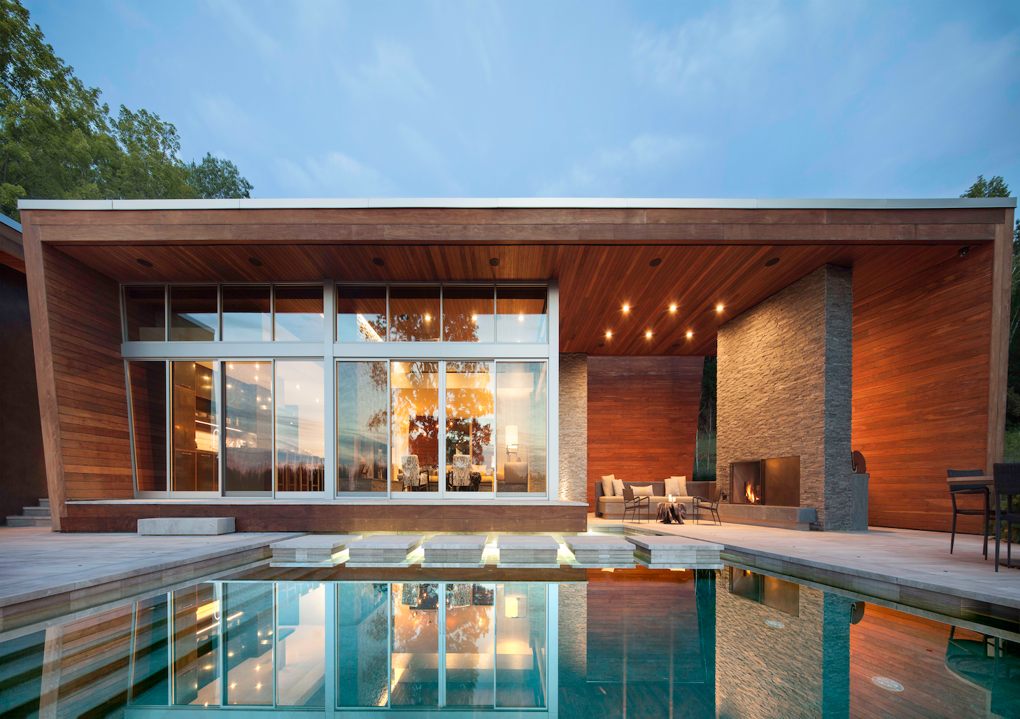 Tagged: Outdoor, Infinity Pools, Tubs, Shower, Pavers Patio, Porch, Deck, Large Patio, Porch, Deck, and Wood Patio, Porch, Deck.  Taghkanic House by Hariri & Hariri Architecture