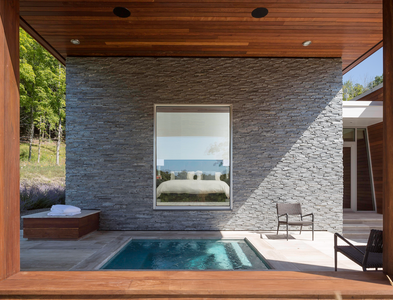 Tagged: Outdoor, Small Pools, Tubs, Shower, and Wood Patio, Porch, Deck.  Taghkanic House by Hariri & Hariri Architecture
