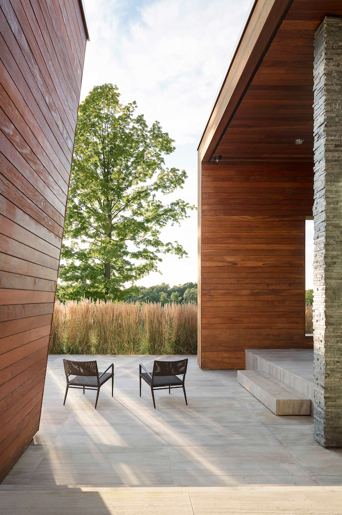 Tagged: Outdoor, Back Yard, Trees, and Grass.  Taghkanic House by Hariri & Hariri Architecture
