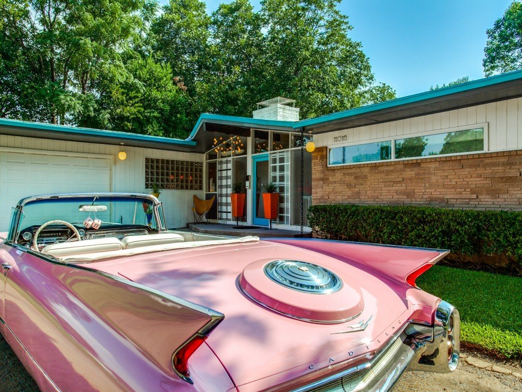Tagged: Exterior, Outdoor, and Front Yard.  Candy-Colored Mid-Century Modern Throwback by Zillow