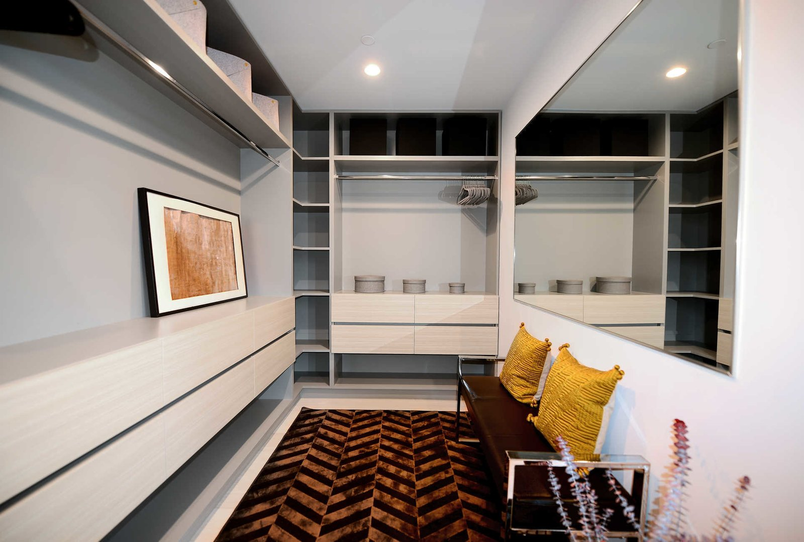 Tagged: Closet Storage Type, Shelves Storage Type, Hallway, and Rug Floor.  Italian Modernist Home by Zillow