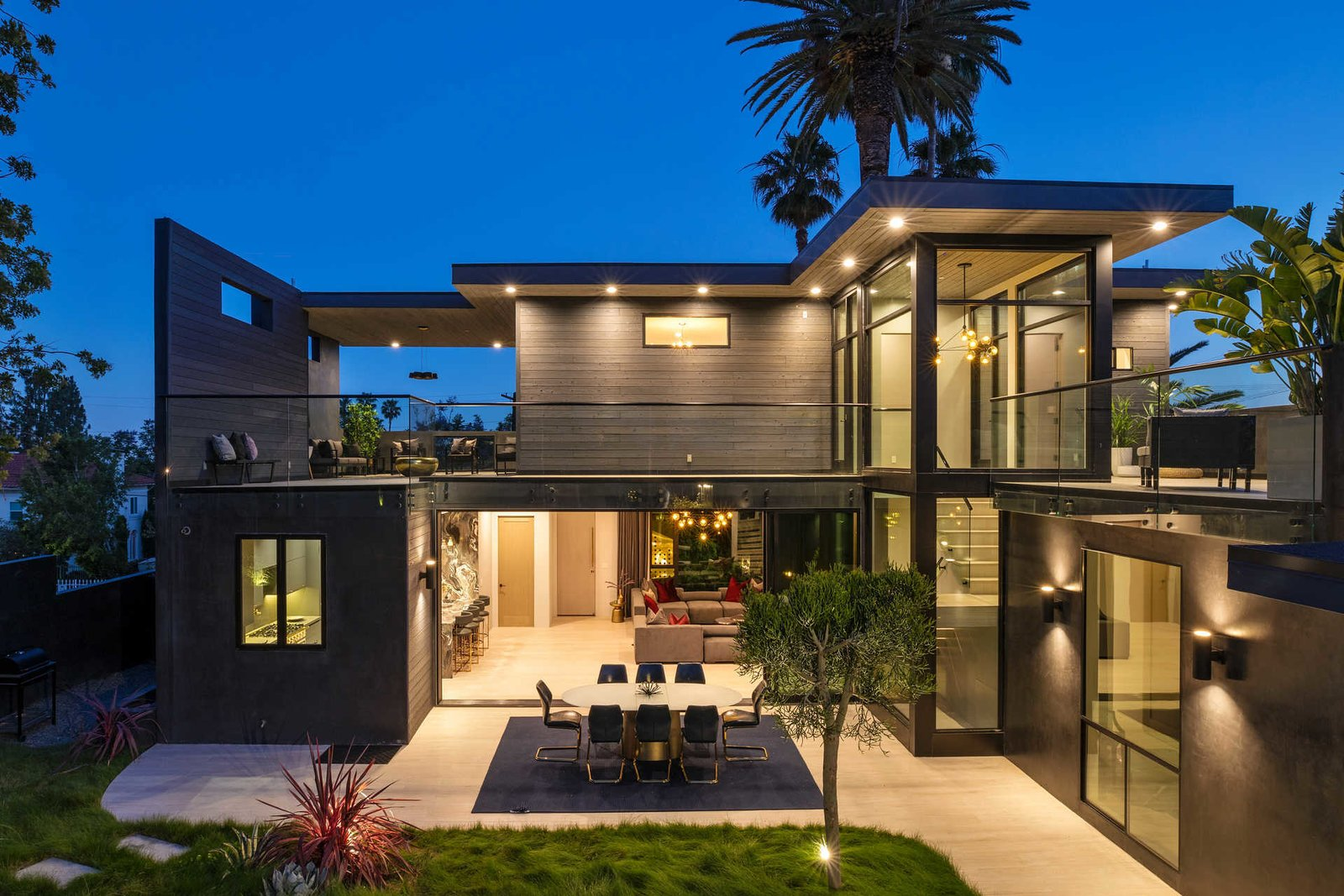 Tagged: Outdoor, Back Yard, Walkways, and Trees.  Italian Modernist Home by Zillow