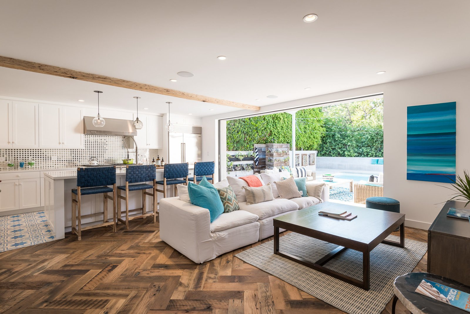 Tagged: Living Room, Sofa, and Coffee Tables.  Mid-Century Meets Boho Chic by Zillow