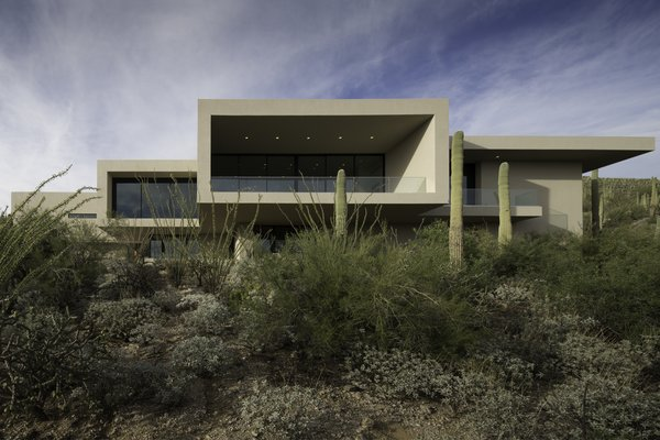 Modern home with outdoor, desert, and front yard. Photo 3 of Sabino Canyon Home
