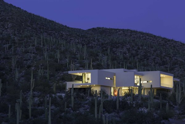 Modern home with outdoor, front yard, back yard, desert, and small patio, porch, deck. Photo 5 of Sabino Canyon Home