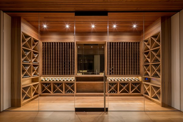 1500 Bottle temperature controlled wine room Photo 5 of Woodside Way modern home