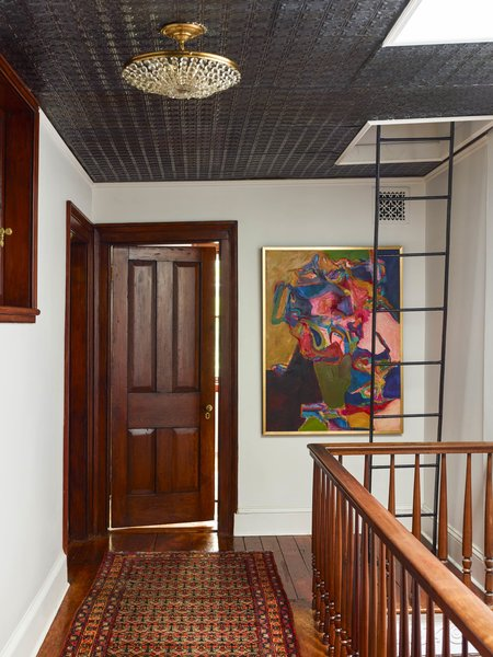 Modern home with hallway. Photo 14 of Colorful Meatpacking District Townhouse