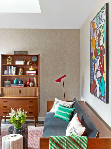 Modern home with office, bookcase, study, and chair. Photo 18 of Castle of Color