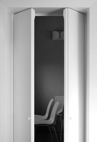 Modern home with doors, interior, and wood. buda_dining room Photo 15 of buda