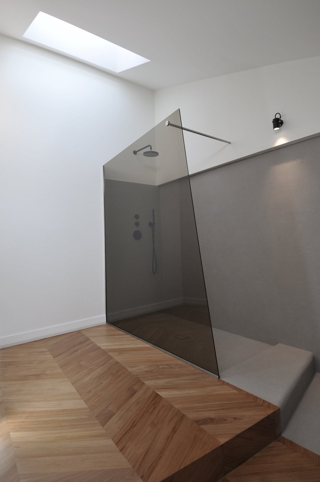 Tagged: Bath, Light Hardwood, Two Piece, Open, and Wall.  Best Bath Open Light Hardwood Photos from cdr