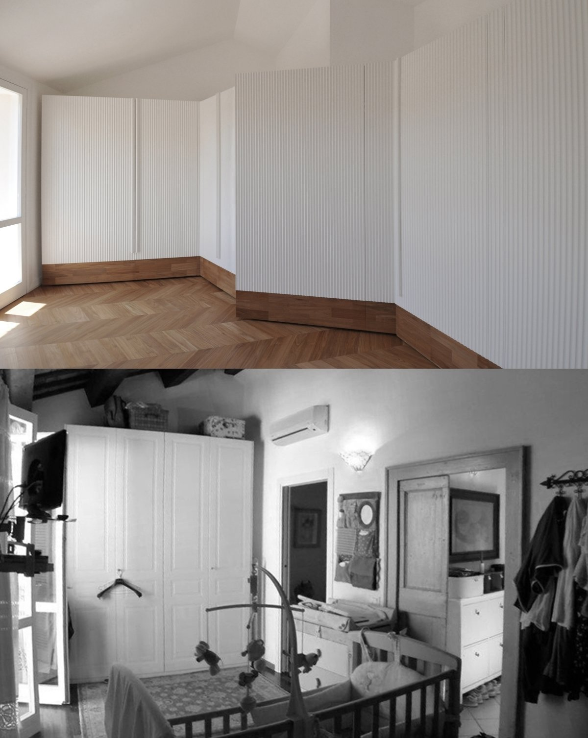 before and after photos of the bedroom Tagged: Bedroom.  cdr by tissellistudioarchitetti