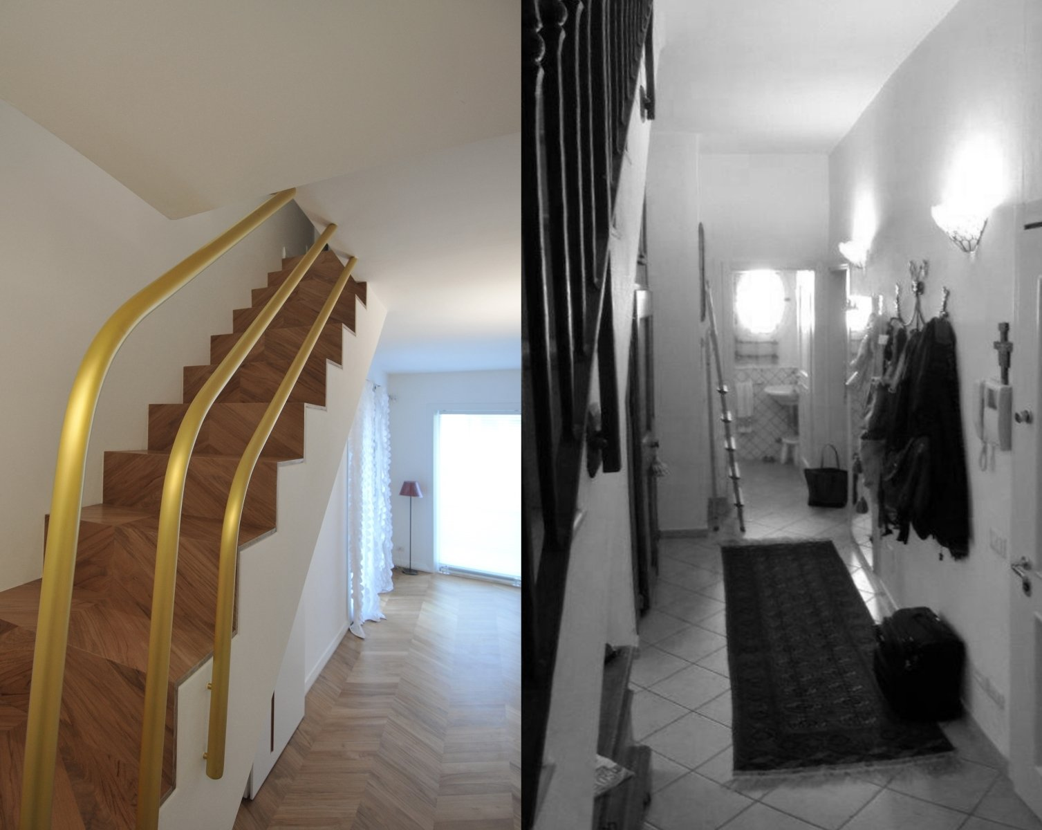 before and after photos of the entrance hallway Tagged: Hallway.  cdr by tissellistudioarchitetti