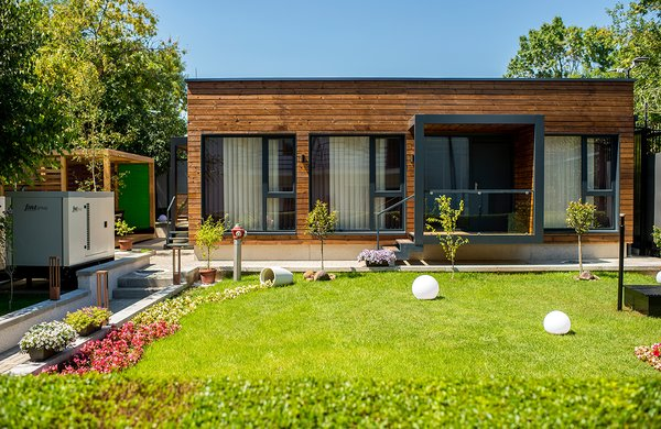Modern home with outdoor. Photo 3 of The container as a contemporary solution
