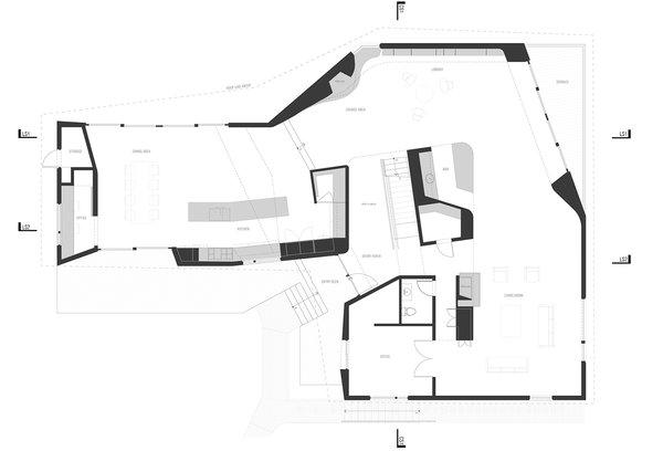 Plan 1st Floor Photo  of DR Residence modern home
