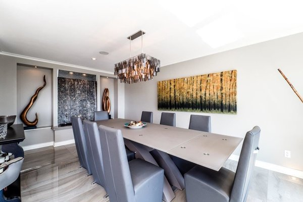 Modern home with dining room. Photo 6 of City and Ocean View Home