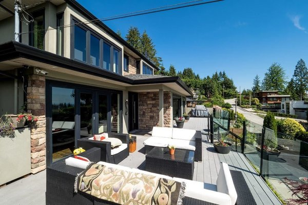 Modern home with outdoor and large patio, porch, deck. Photo 9 of City and Ocean View Home