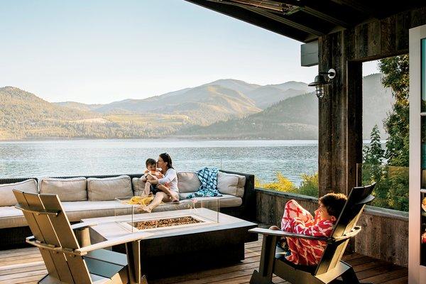 Modern home with outdoor. Lake Chelan Photo  of Lake Chelan