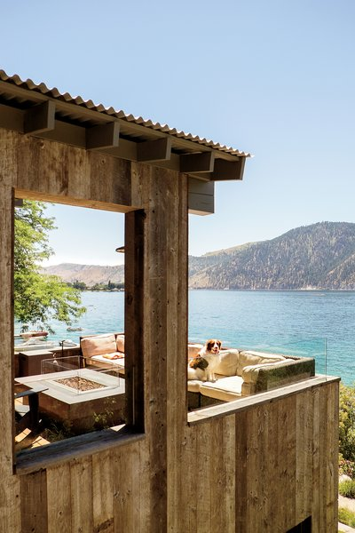 Modern home with outdoor, small patio, porch, deck, and wood patio, porch, deck. Lake Chelan Photo 5 of Lake Chelan