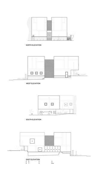 Elevation plans Photo 15 of Casa Iguana modern home