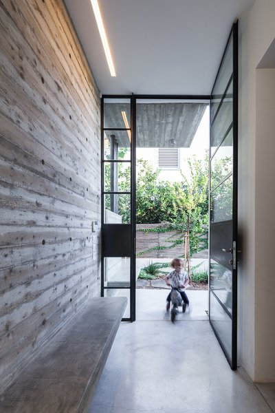 Modern home with doors, swing door type, exterior, and metal. Photo 16 of Urban Life In The Country