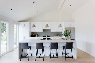 Merging Inside and Out, an L.A. Firm Modernizes a 1940s Abode - Photo 11 of 18 - Open Kitchen & New Vaulted Ceiling