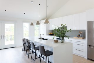Merging Inside and Out, an L.A. Firm Modernizes a 1940s Abode - Photo 12 of 18 - Open Kitchen & New Vaulted Ceiling