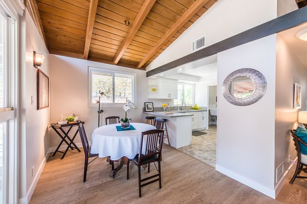 Modern home with dining room. Photo 4 of Gorgeous Palmer & Krisel Home in the Heart of San Fernando Valley, CA
