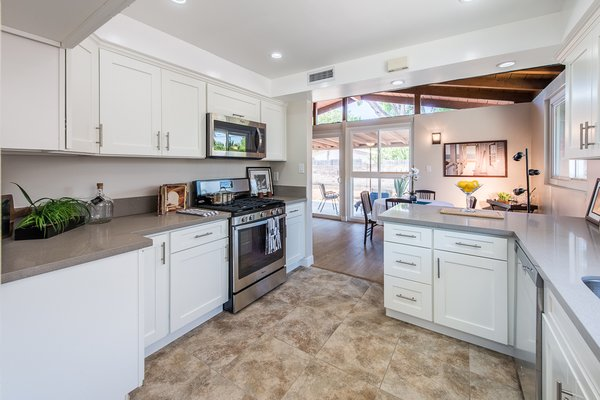 Modern home with kitchen. Photo 5 of Gorgeous Palmer & Krisel Home in the Heart of San Fernando Valley, CA