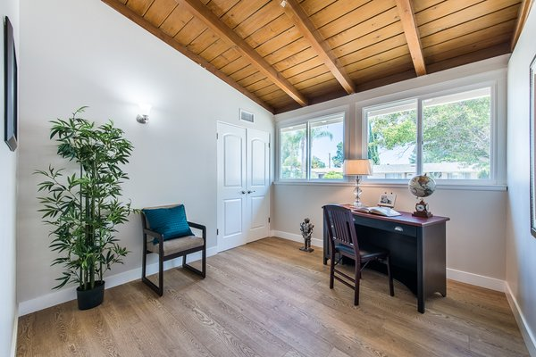 Modern home with office. Photo 6 of Gorgeous Palmer & Krisel Home in the Heart of San Fernando Valley, CA