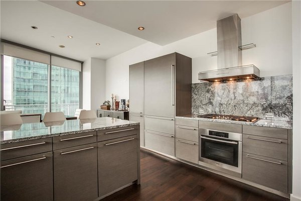 Modern kitchen with SubZero fridge and Miele appliances Photo 5 of Modern Dallas High-Rise modern home