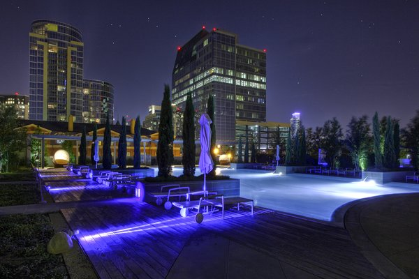 The fabulous pool at Azure Photo 14 of Modern Dallas High-Rise modern home