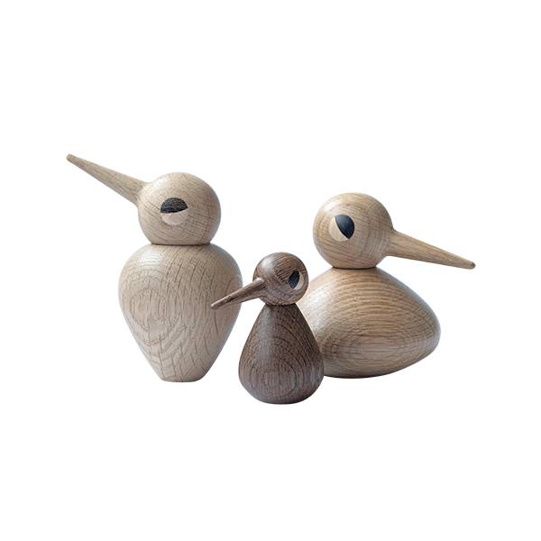Oak Bird Figurines (Set of 3)