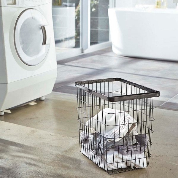 "Yamazaki Home Large Wire Laundry Basket ""Tower"""