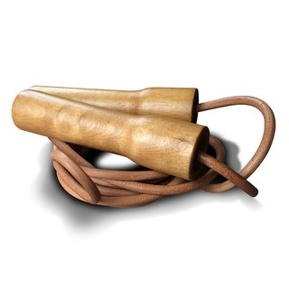 Wood & Leather Jump Rope