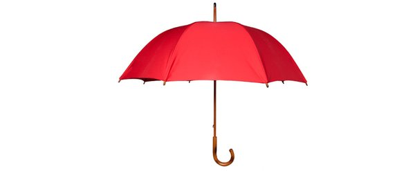 Umbrella with Maple Wood Handle (Red)