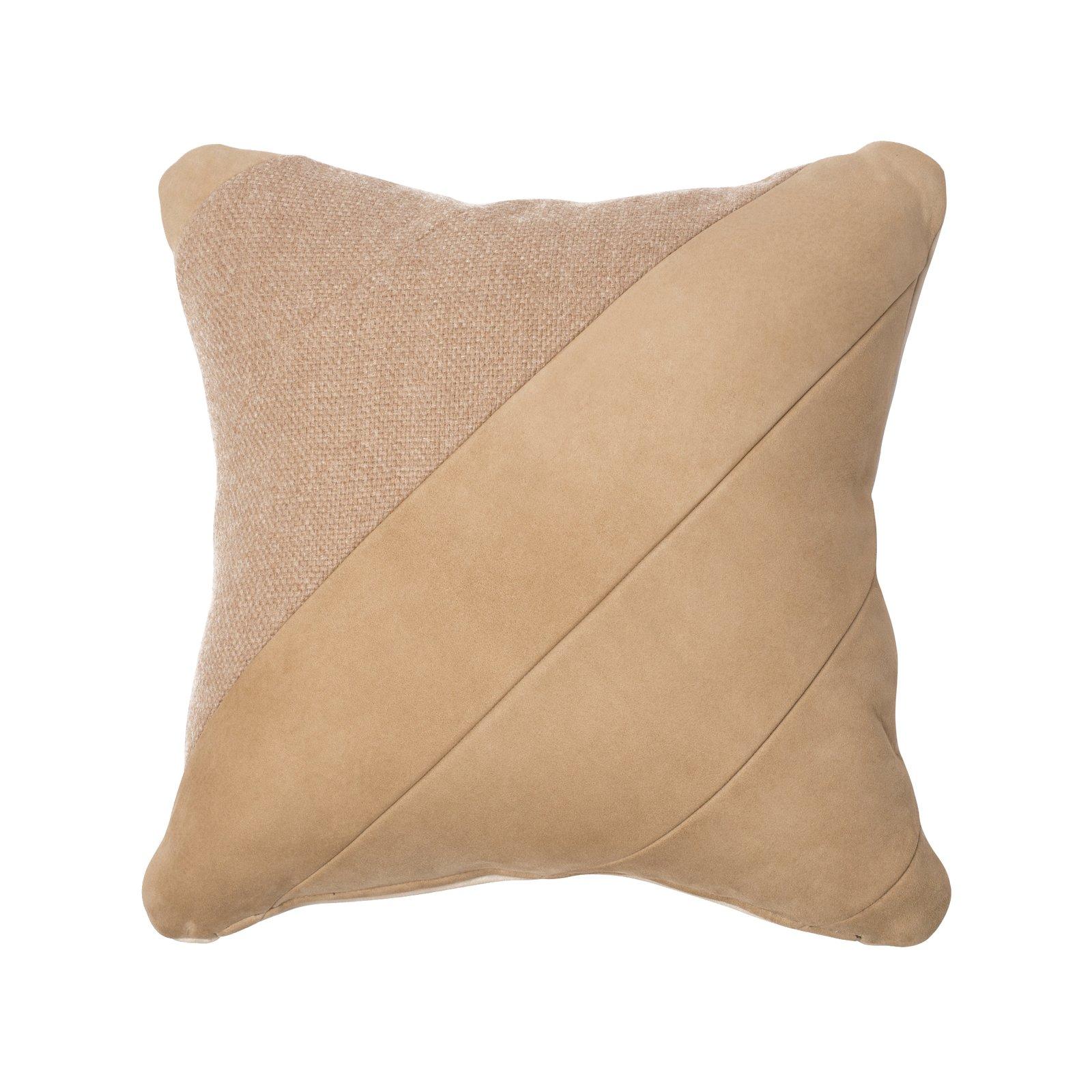 """Alpaca & Suede Pillow """"Elah"""""""