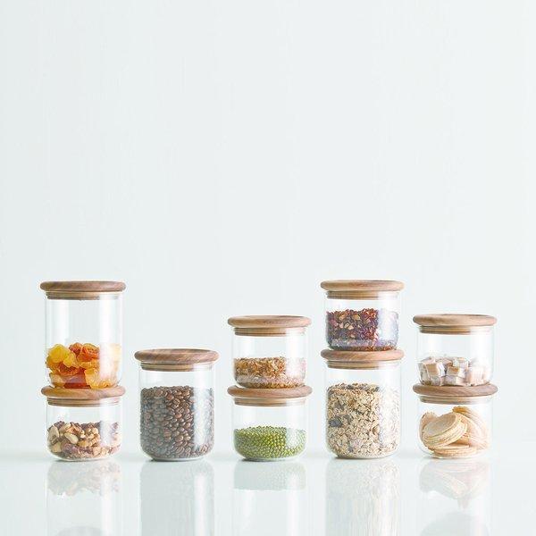 Baum Neu Glass & Wood Storage Canisters (Set of 2)