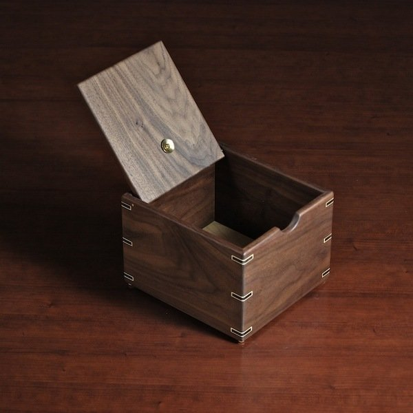 Walnut Recipe Box